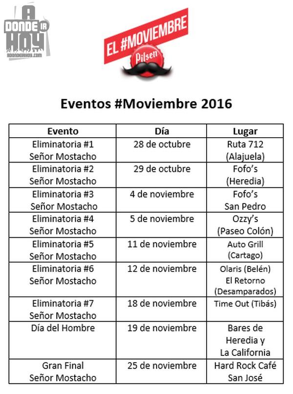 Eventos Moviembre Costa Rica 2016 Pilsen