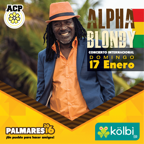 Alpha Blondy 2016 Fiestas Palmares
