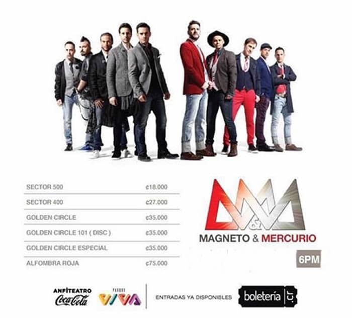 Concierto Costa Rica Vive 2017 Magneto Mercurio Love Edition