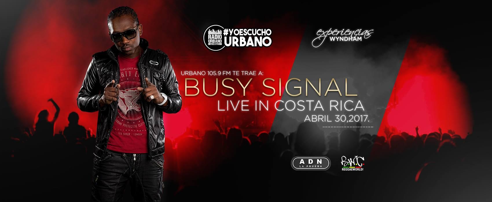 Concierto Busy Signal en Costa Rica por Primera Vez