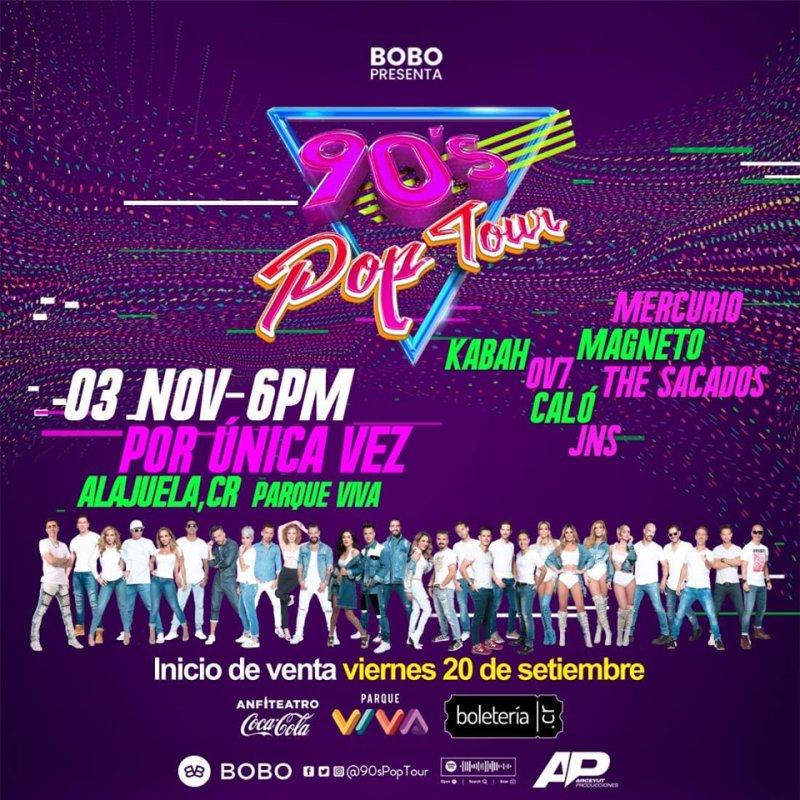 90´s Pop Tour Costa Rica