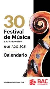Festival de Música BAC Credomatic 2021 - Calendario