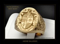 Luxury Hand Engraved Jewelry Custom Mason Rings