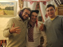 Ukrainian guys in korchma Taras Bulba