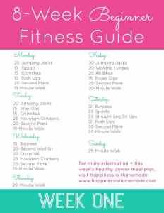 8 Week Beginner Fitness Jumpstart