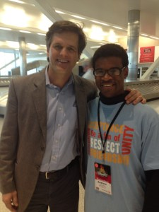 with Special Olympics Chairman Tim Shriver