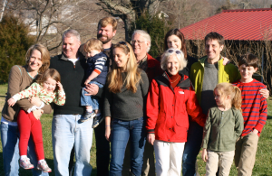Anna with parents, siblings, partners and kids