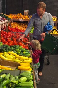 Hermann grocery shopping with our niece