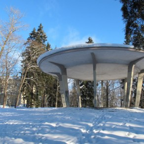 Näsinpuiston laululava talvipakkasessa. Kuva: Heli Haavisto.