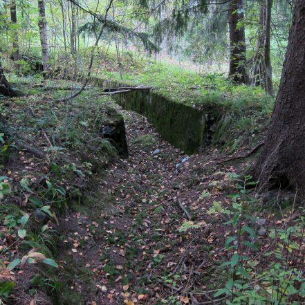 Helsinki, Paloheinä, I maailmansodan puolustusvarustus. Kuva. H. Hämäläinen.