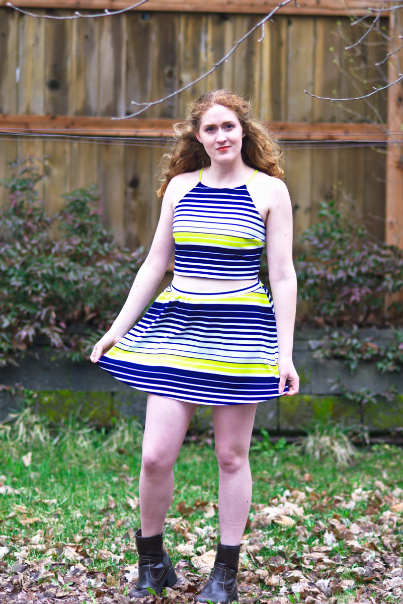 Sewing tutorial: Upcycle a dress into a two piece set