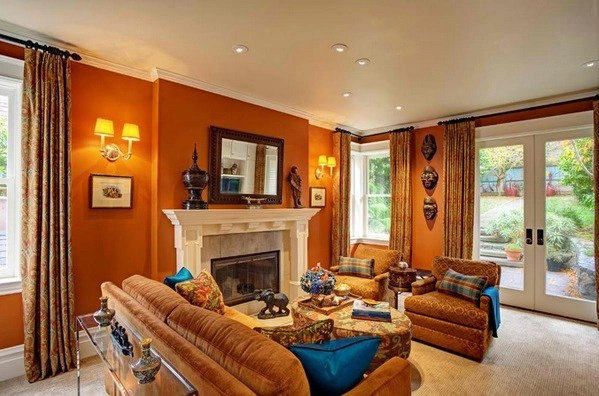 burnt orange living room accessories ideas with light blue sofa african themed rooms: beauty and style – adorable home