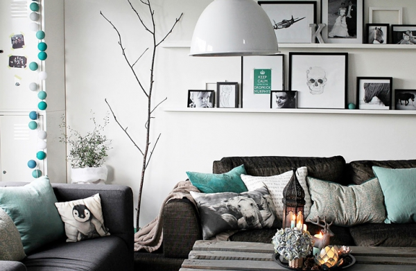 house of turquoise living room modern gallery wall amazing accented with adorable home