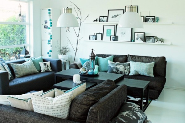 turquoise living room decorating ideas Turquoise And Beige Living Room Ideas | Interior Design Blogs