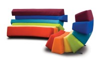 Colorful furniture with all the colors of the rainbow ...