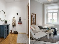 Cozy chic apartment rendered in scandinavian vibes