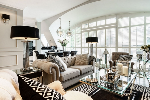 Glamorous Interior Design Fit For A Queen Adorable Home