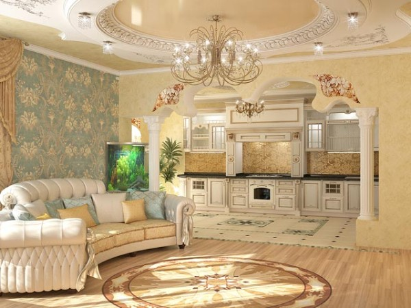 luxury kitchen appliances storage unit neo-baroque house