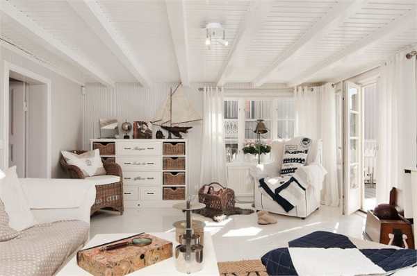 Nautical House Interior in Stars  Adorable Home