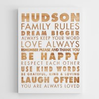 Personalized family rules wall art  Adorable Home