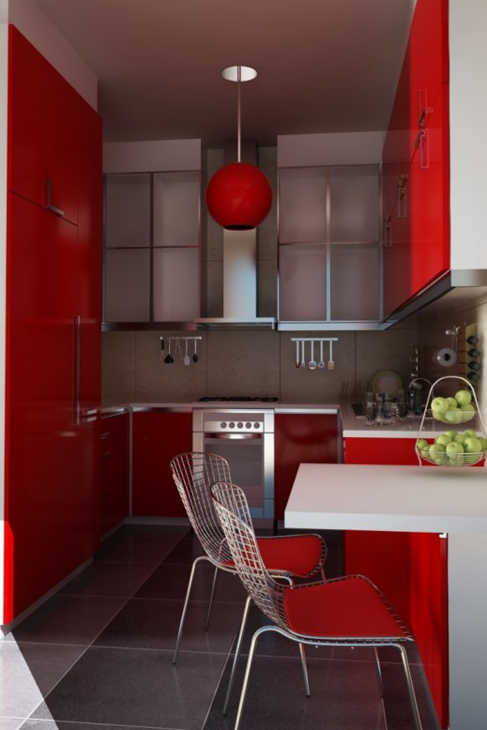 Red Kitchen Designs  Adorable Home