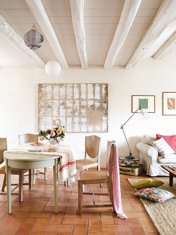 Romantic dwellings rustic charm with a feminine touch