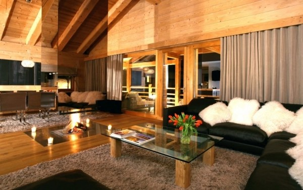 Spaces to unwind luxurious spa chalet in Switzerland