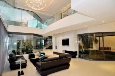 modern mansion huge stunning hollywood meulen nico der van architects architecture cal spacious living room houses luxurious double adorable height
