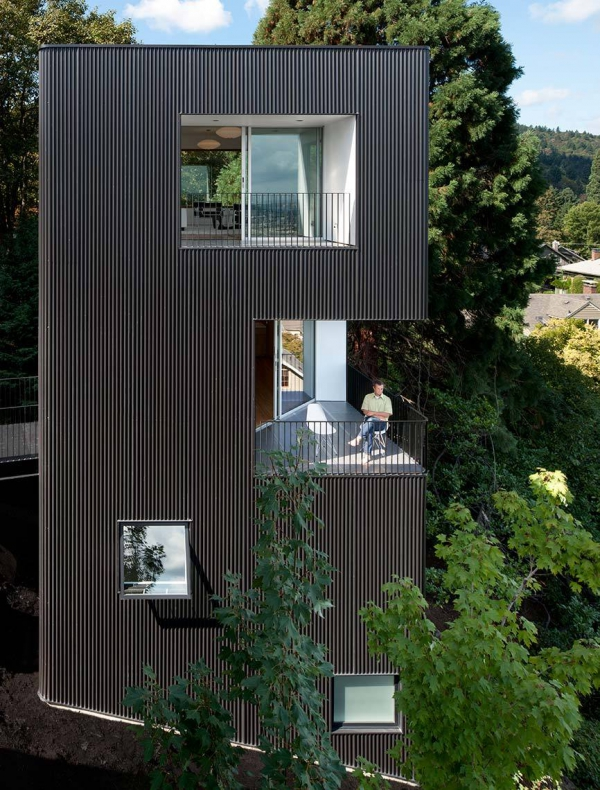 The Minimalist Tower House In Portland
