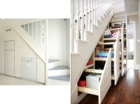 The staircase as a storage space  Adorable Home