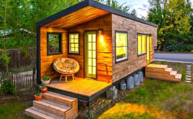 Tiny House From Recycled Materials Adorable Home