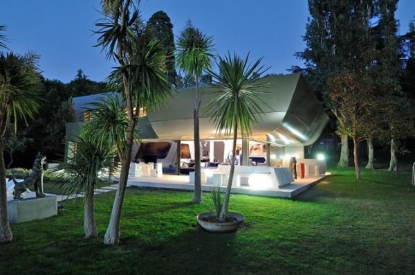 Ultra modern interior featuring futuristic architecture