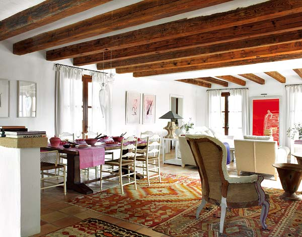 gold dining chairs chair tight glue wood beams and jewel tones: a rustic house – adorable home