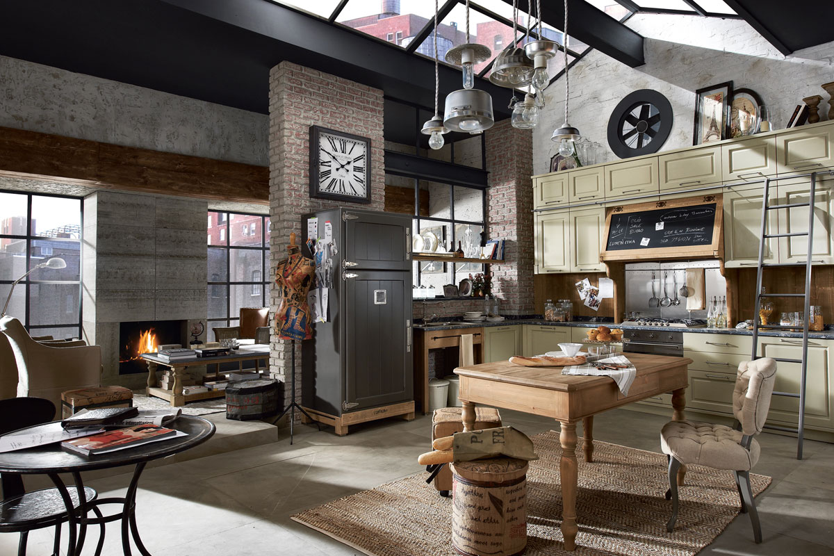 Vintage And Industrial Style Kitchens (12