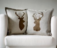 Reindeer Family Pillow Cover