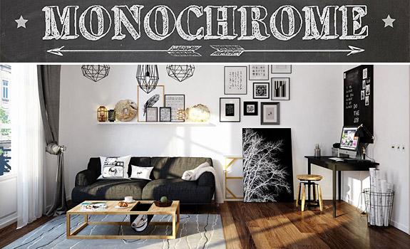 Delving In Monochrome Interior Design
