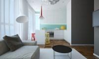 Open plan apartment design
