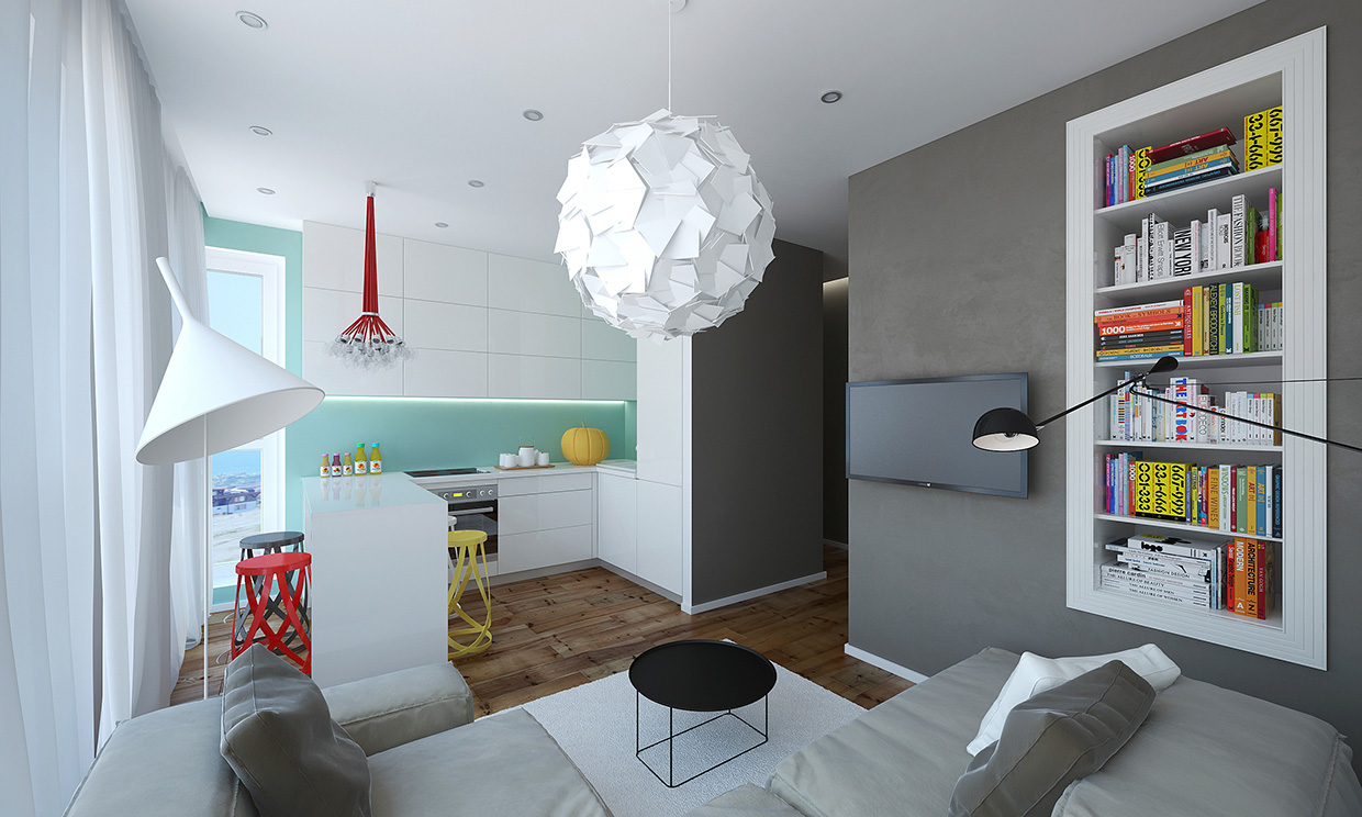 Modern Small Apartment Design In Bulgaria