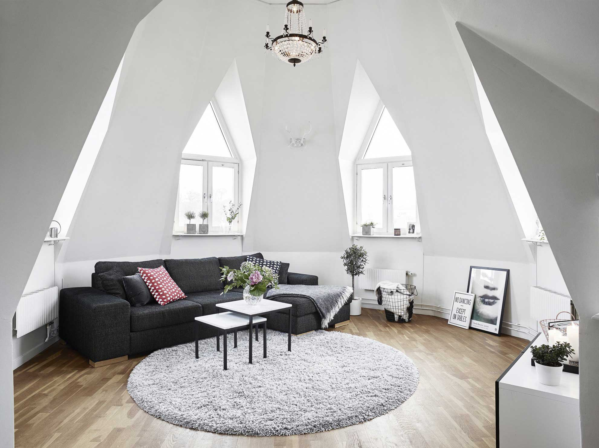 living room bed ideas orange pics 39 attic rooms that really are the best adorable home com oddly shaped