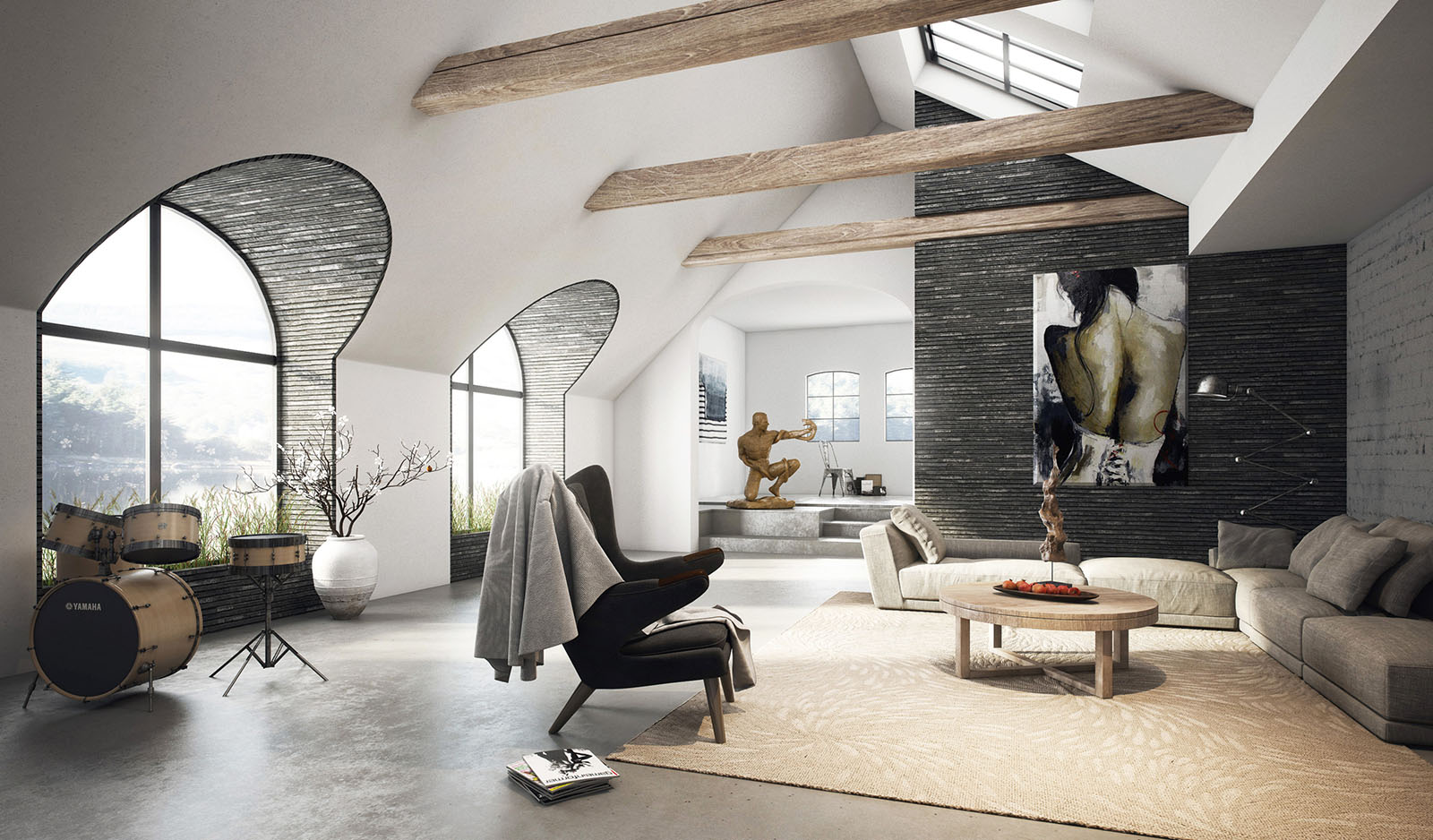 living room interior design pictures mission set 39 attic rooms that really are the best adorable home com spacious in 3d
