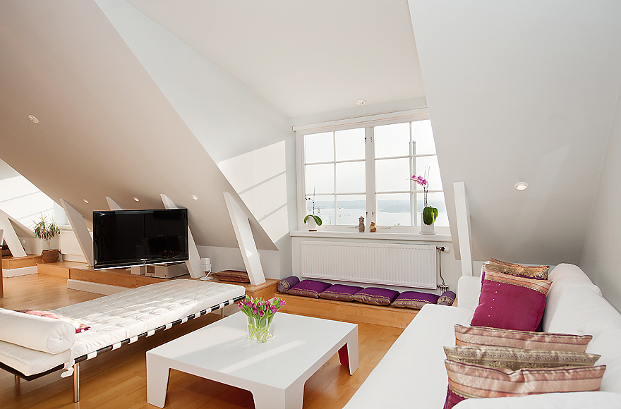 cheap way to decorate living room ideas with dark grey couch 39 attic rooms that really are the best adorable home com white wooden floors