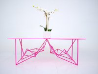 The Pink Coffee Table Extraordinaire!  Adorable Home