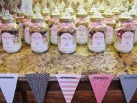 Decorating mason jars for baby showers