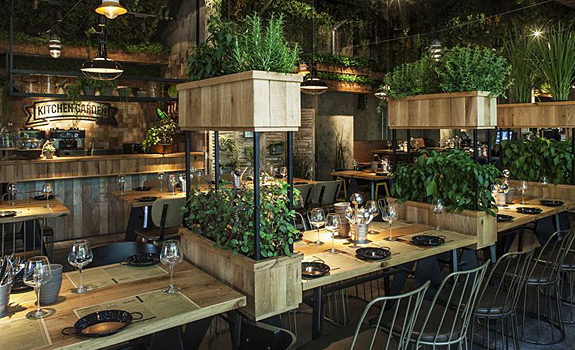 A Natural Restaurant Interior Design  Adorable Home
