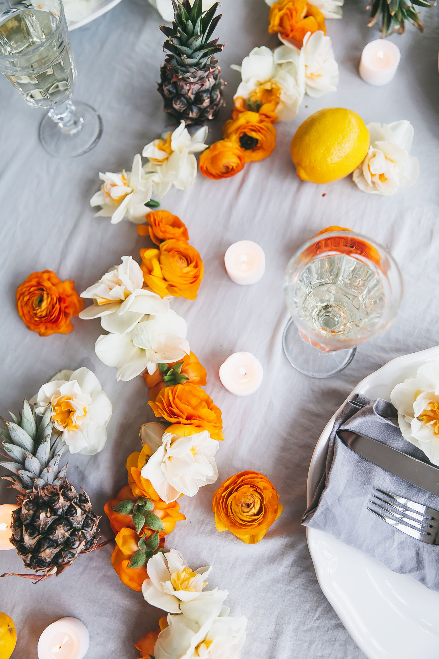 DIY Fresh Flower Garland  Adorable Home