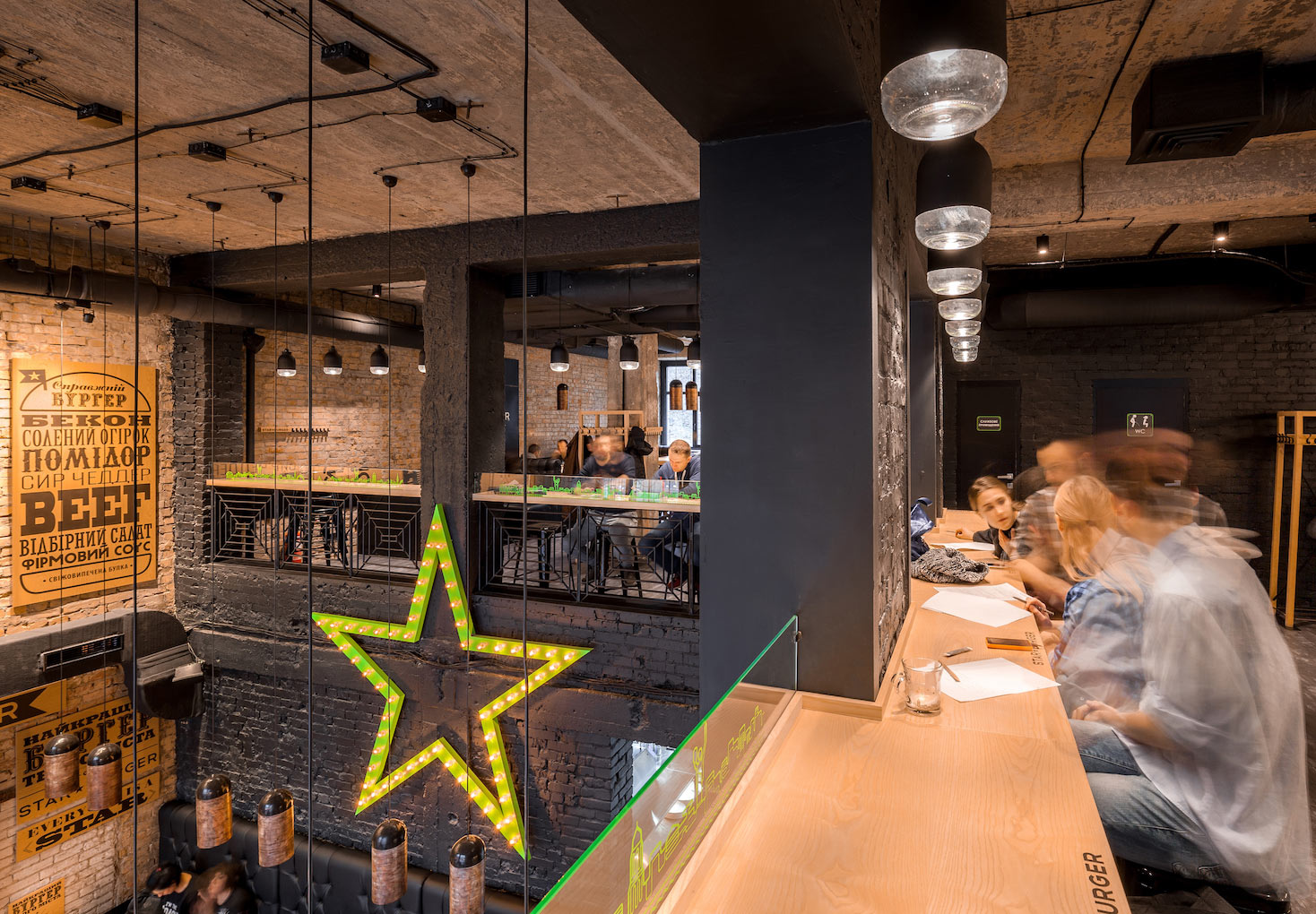 Star Burger An Industrial Restaurant Design  Adorable Home
