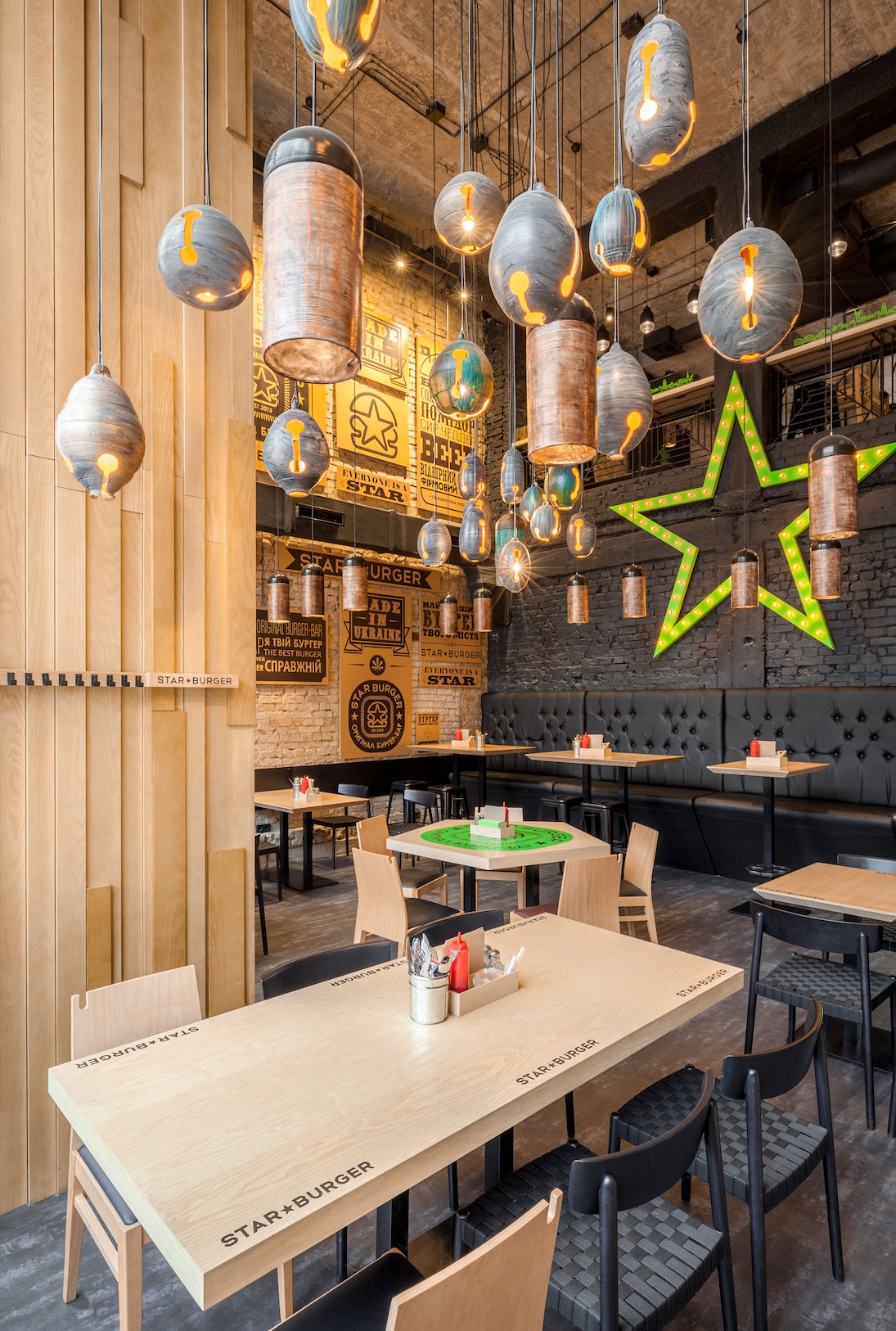 Star Burger An Industrial Restaurant Design  Adorable Home