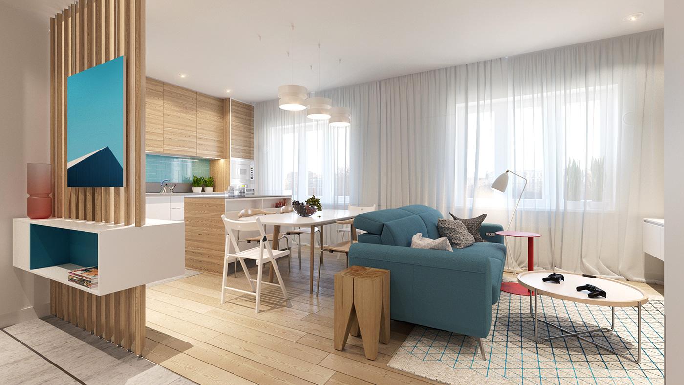 Colorful apartment design