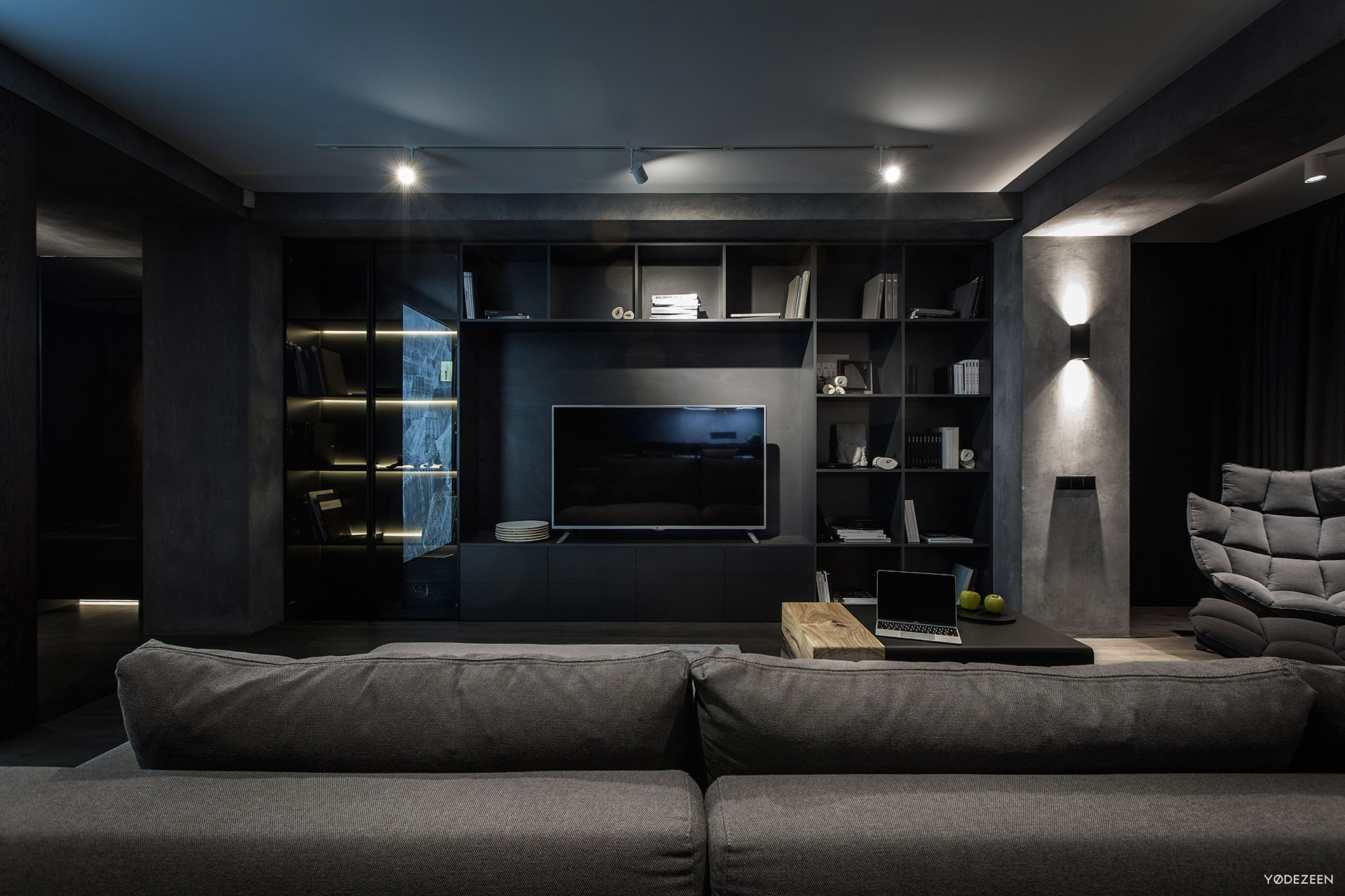 Exquisite Modern Dark Interiors  Adorable Home