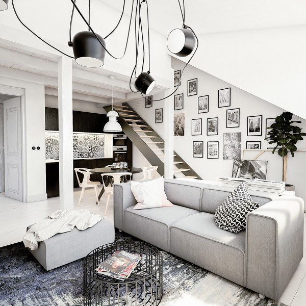 White Loft Apartment Bachelor Paradise Adorable Home